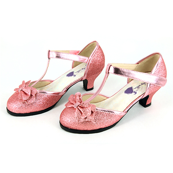 Crystal Pink Girls Heeled Dress Shoes - Glitzerella